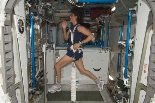 How does exercise work in zero-G?