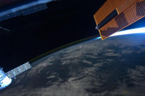 Monitoring meteor showers from space