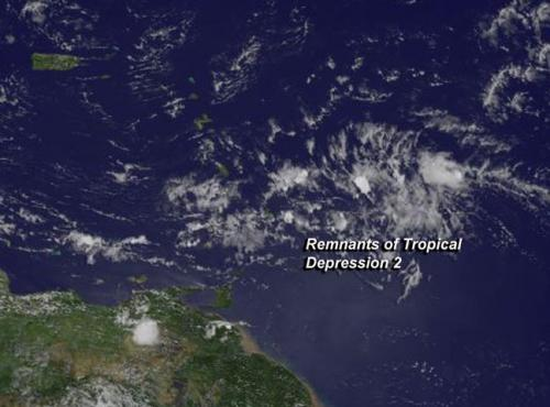 Satellite shows Atlantic Tropical Depression degenerate