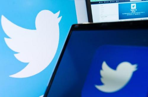 The logo of social networking website 'Twitter' is displayed on a computer screen in London on September 11, 2013