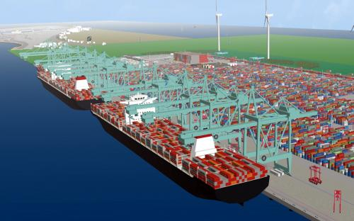 Researchers assessing harbor safety using simulations