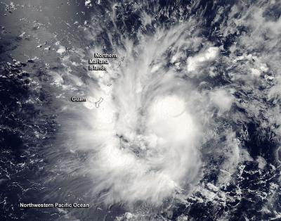 NASA sees Tropical Storm 9 over Guam
