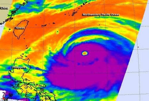 NASA satellites see Neoguri grow into a super typhoon