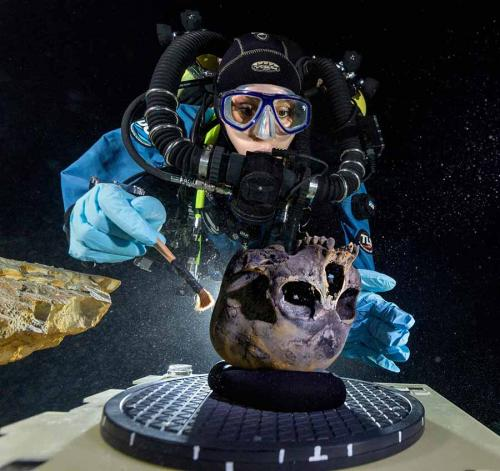 Researchers to document underwater cave, Paleoamerican remains