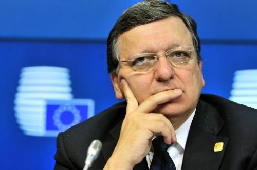 European Commission President Jose Manuel Barroso gives a press conference on July 16, 2014 at the EU Headquarters in Brussels