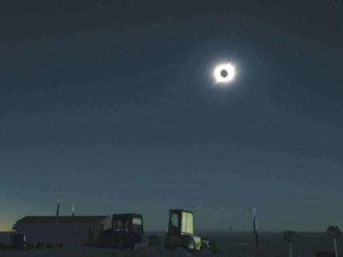 File photo of a solar eclipse taken from the Dome Fuj Station, some 1,000 kilometres south of the Japanese observation base at S