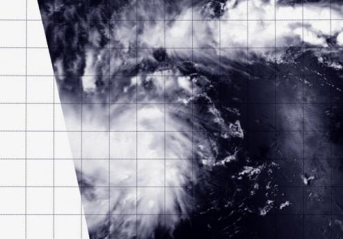 NASA's Aqua satellite flies over newborn Tropical Depression 05W