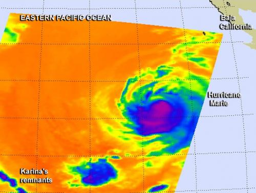 NASA sees massive Marie close enough to affect southern California coast