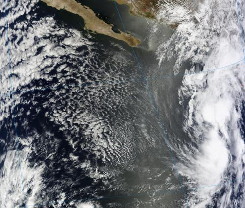 NASA sees system 90E moving toward southwestern Mexico