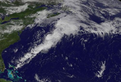 Satellite shows Bertha merged with frontal system in North Atlantic