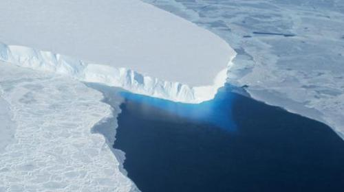 This undated photo courtesy of NASA shows Thwaites Glacier in Western Antarctica