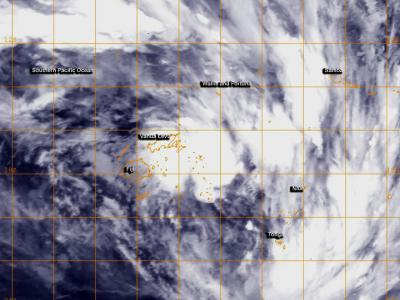 Tropical Cyclone 16P forms near Fiji