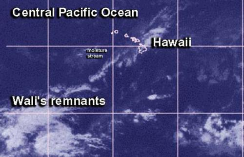 Tropical Storm Wali no more, but remnants soaked Hawaii