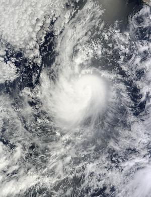 NASA satellite spots a weakening Karina, now a tropical storm