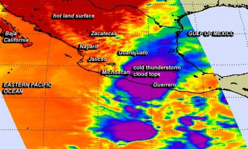 NASA sees system 90E just after earthquake hit Mexico's Guerrero State