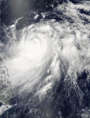NASA sees Typhoon Halong's eye wink
