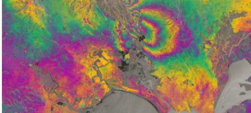 New satellite maps out Napa Valley earthquake