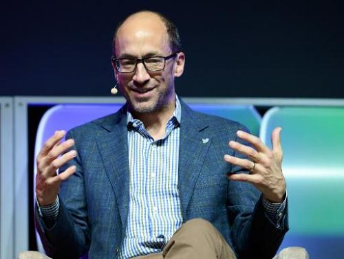 File picture shows Twitter CEO Dick Costolo during his Brand Matters keynote address at the 2014 International CES in Las Vegas,