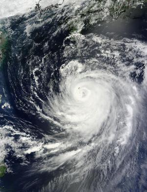 NASA sees Typhoon Halong approaching Japan