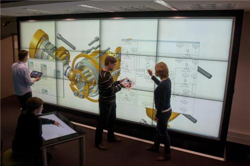 Researchers using Europe's largest interactive display wall for research purposes
