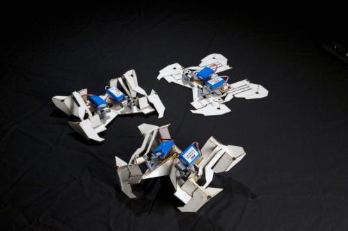 Origami robot folds itself up, crawls away