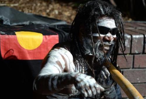 File photo of an indigenous aboriginal Australian man