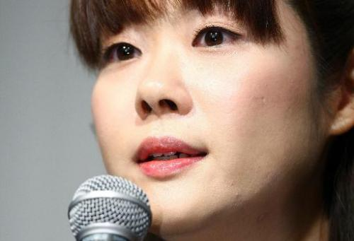 Haruko Obokata, a researcher at Japan's Riken Institute, speaks at a press conference in Osaka on April 9, 2014