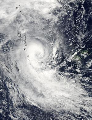 NASA sees Tropical Cyclone Lusi over Vanuatu