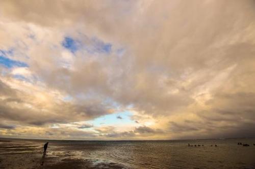 A beach near the coastal town of Tamatave on October 1, 2013