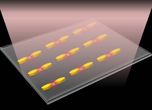 Accurate placement of molecules into gaps between gold nanoantennas enables ultrahigh-sensitivity molecular detection