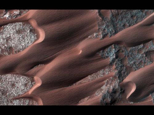 Active Dune Field on Mars