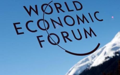 A logo of the World Economic Forum on January 26, 2013 in Davos