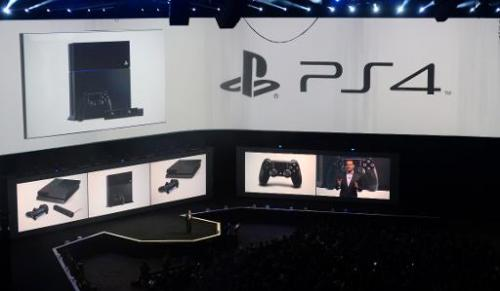 Andrew House introduces Playstation TV at a press conference, on the eve of the E3 video game show in Los Angeles on June 9, 201