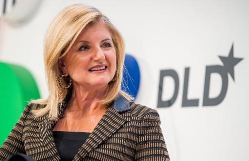 "Arianna Huffingtion, US founder of the ""Huffington Post"", attends a conference in Munich, southern Germany on January"