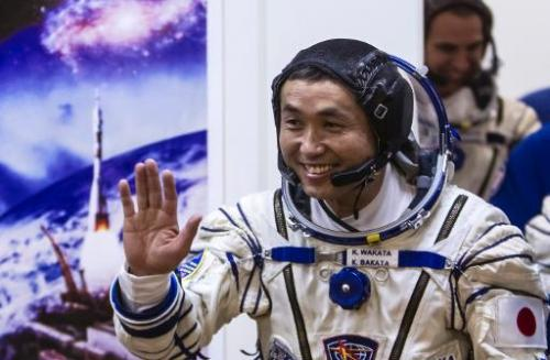 Astronaut Koichi Wakata, pictured at the Baikonur cosmodrome on November 6, 2013, has become the first Japanese commander of the