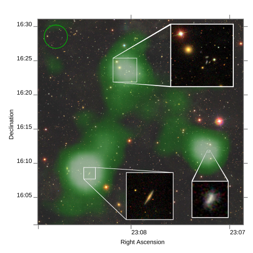 Astronomers find stream of gas -- 2.6 million light years long