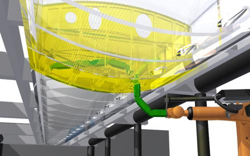 Automated assembly of aircraft wings