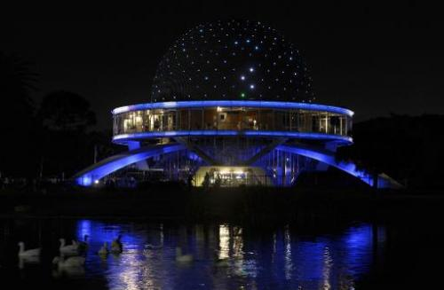 A view of Buenos Aires' Planetarium on March 31, 2012