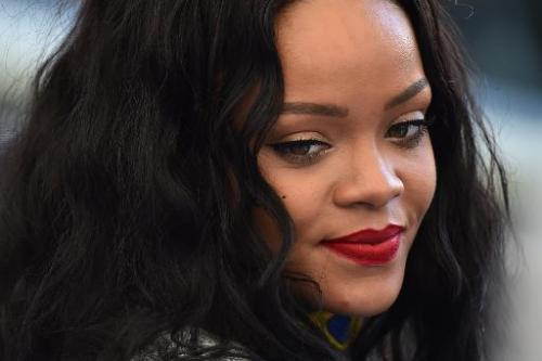 Barbadian pop star Rihanna pictured at the World Cup match between Germany and Argentina in Rio de Janeiro on July 13, 2014