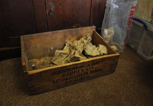 Box with materials from ancient city recovered