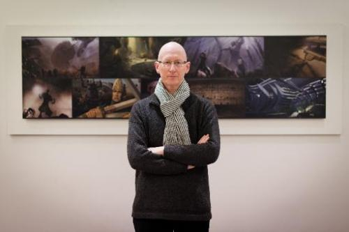 CEO of The Framestore, William Sargent, poses for a photo in the Soho offices of the leading visual effects company, in London,