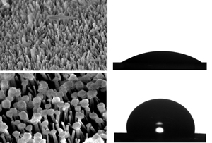 Chemical transformation yields surface-bound microstructures that repel oil- and water-based contaminants