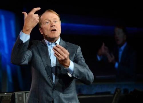 Cisco Systems Inc. Chairman and CEO John Chambers delivers a keynote address in Las Vegas, Nevada, on January 7, 2014