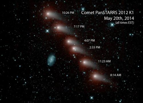 Comet Pan-STARRS marches across the sky