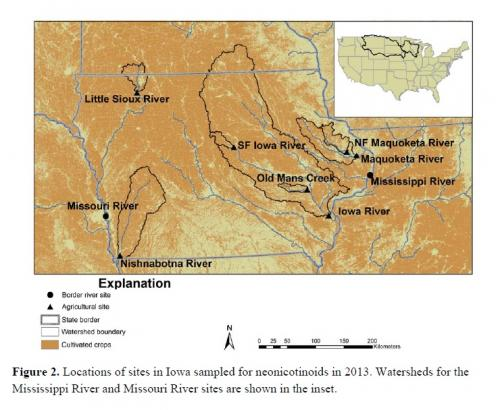 Corn & soy insecticides similar to nicotine found widespread in Midwest rivers -- USGS news