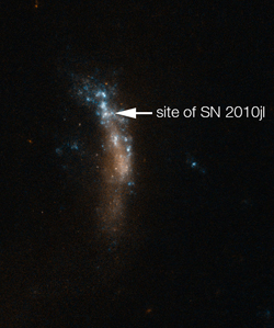 Cosmic grains of dust formed in supernova explosion