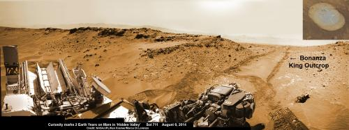 Curiosity brushes 'Bonanza king' target anticipating fourth red planet rock drilling