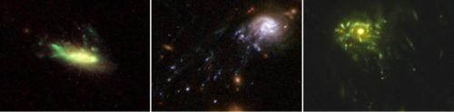Hubble images spawn theory of how spiral galaxies turn into jellyfish before becoming elliptical