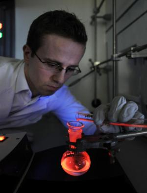 Europium complexes emit red light at record efficiency