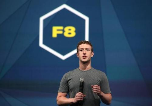 Facebook CEO Mark Zuckerberg delivers the opening keynote at the Facebook f8 conference on April 30, 2014 in San Francisco, Cali
